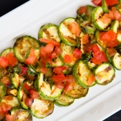 Grilled Zucchini Salad with Tomato and Mint – Σαλάτα με ψητά Κολοκυθάκια, Τομάτα  και Μέντα
