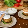 Chickpea Burger with Tzatziki – Burger Ρεβιθιών με Τζατζίκι