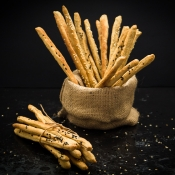 Whole Wheat Grissini with Greek Herbs - Κριτσίνια Ολικής με Ελληνικά Μυρωδικά