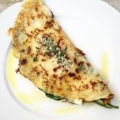 Spinach & Feta Crepes by Kouzounas Kitchen - Κρέπες με Σπανάκι και Φέτα από το Kouzounas Kitchen