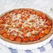 Whole Wheat Cherry Tomato Tart – Τάρτα Ολικής με Τοματίνια