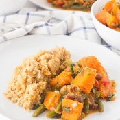 Spicy Pumpkin with Almond Quinoa – Πικάντικη Κολοκύθα με Κινόα