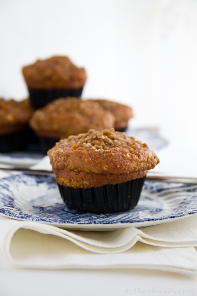 Carrot Oatmeal Muffins in 2 versions – Muffins Καρότου με Βρώμη σε 2 εκδοχές