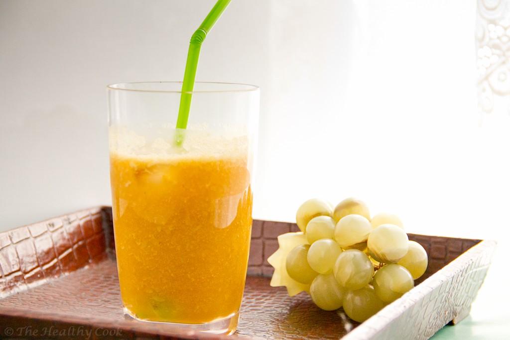 Green Tea, Grape & Peach Smoothie – Smoothie με Πράσινο Τσάι, Σταφύλι και Ροδάκινο