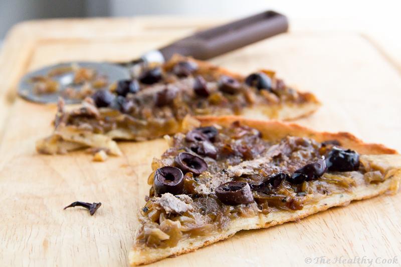 Onion & Anchovy Pizza and a Crust express – Πίτσα με Κρεμμύδια & Αντζούγιες και μια Ζύμη εξπρές