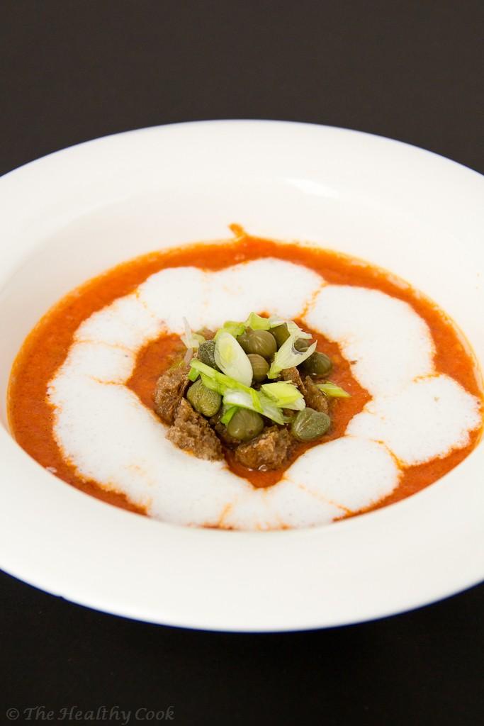 Spicy Tomato soup with buttermilk – Πικάντικη Σούπα Ντομάτας με Ξυνόγαλα