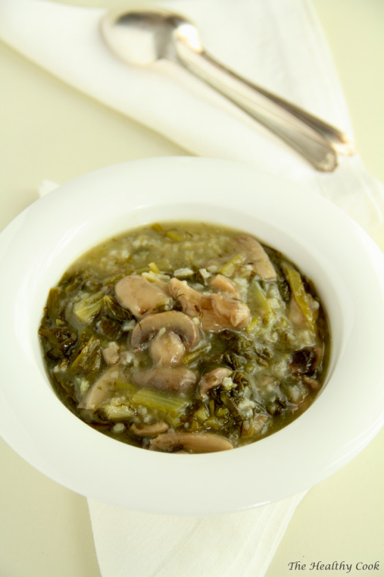 Magiritsa (Greek Easter Soup) with Mushrooms – Μαγειρίτσα με Μανιτάρια