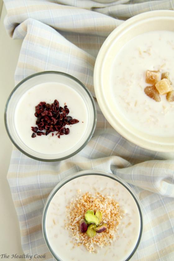 Coconut and Brown Rice Pudding – Ρυζόγαλο με Γάλα Καρύδας και Καστανό Ρύζι