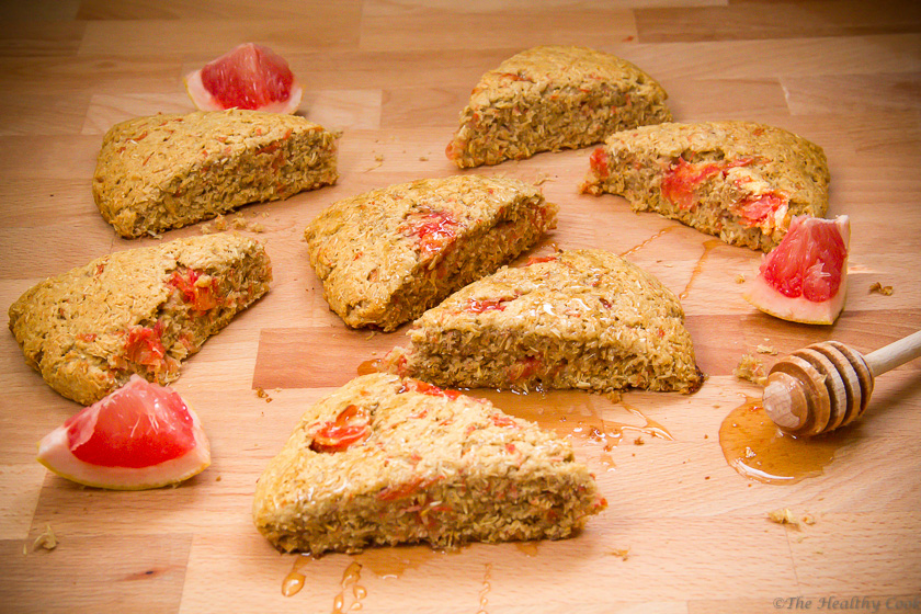 Barley Scones with Grapefruit Recipe