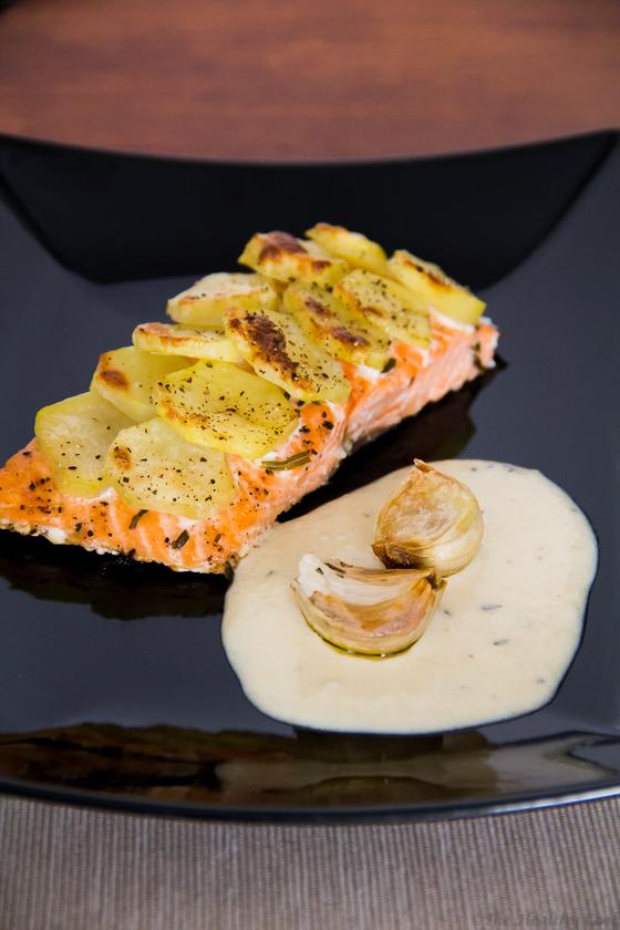 #recipe, #salmon, #roasted_garlic, #tarragon