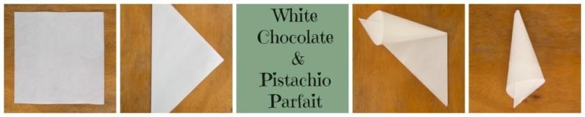 White Chocolate & Pistachio Parfait with berry sauce – Παρφέ Λευκής Σοκολάτας με Φιστίκια Αιγίνης με σάλτσα από κόκκινα φρούτα