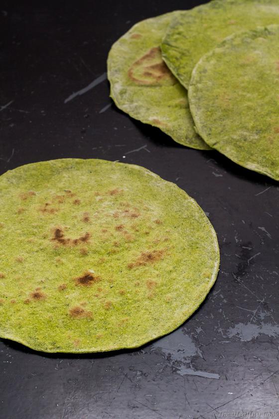 Homemade Kale or Spinach Wraps – Σπιτικές Πίτες για σάντουιτς με Κέιλ ή Σπανάκι