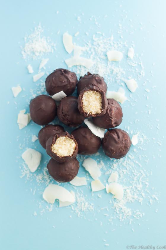 Chocolate & Coconut Bites – Μπουκιές με Σοκολάτα & Καρύδα, τύπου Bounty)