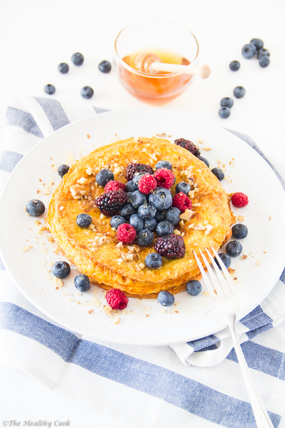 Protein-Pancake-with-Turmeric – Πρωτεϊνική-Τηγανίτα-με-Κουρκουμά