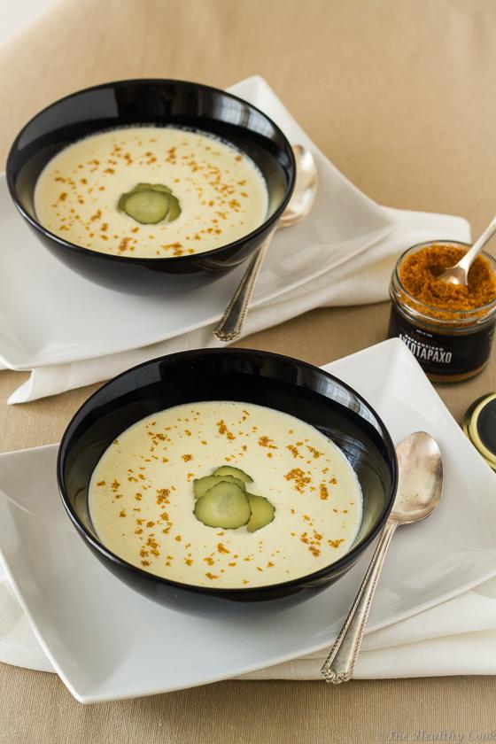 White-Gazpacho-with-Bottarga-Powder – Λευκό-Γκασπάτσο-με-Αυγοτάραχο-Τρίμμα