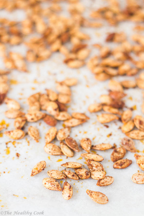 Spicy-Roasted-Pumpkin-Seeds – Πικάντικοι-Ψητοί-Σπόροι-Κολοκύθας