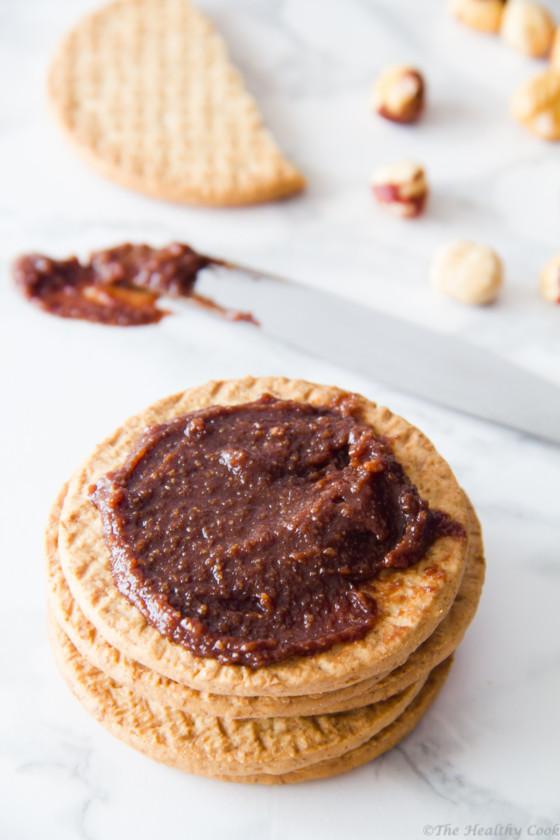 Healthy-Homemade-Nutella – Υγιεινή-Σπιτική-Πραλίνα-Φουντουκιού-(Nutella)