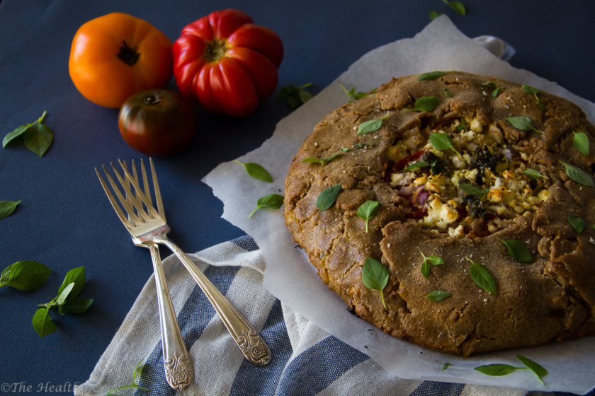 Heirloom-Tomato-Pesto-Galette – Galette-Παραδοσιακές-Τομάτες-Πέστο
