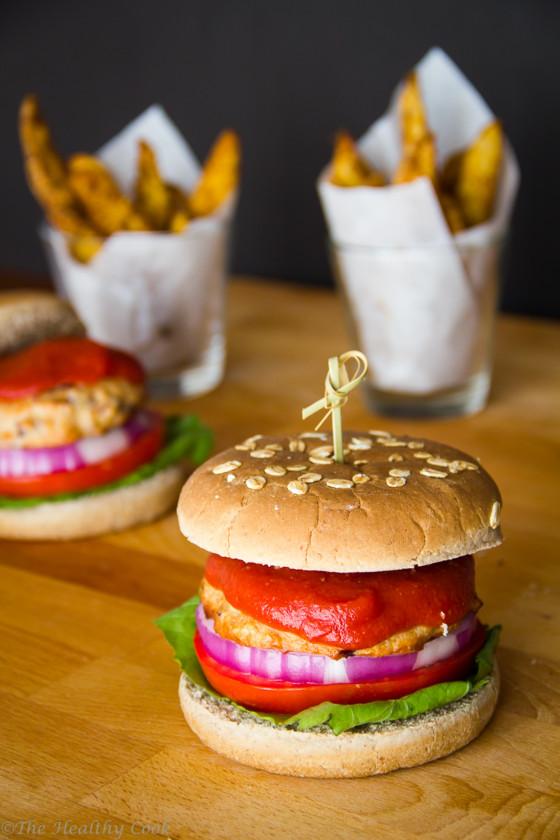 Spicy-Chicken-Burger – Πικάντικο-Burger-με-Κοτόπουλο