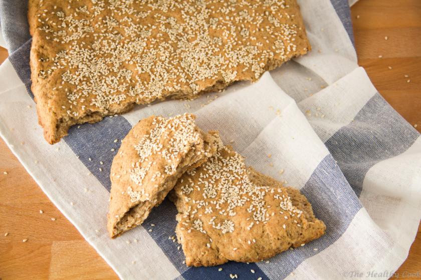 Λαγάνα Ολικής Άλεσης για την Καθαρά Δευτέρα – Whole Wheat Lagana, a tradiotional Greek flatbread, baked for Clean Monday