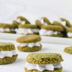 Υγιεινά μπισκότα καρύδας με Matcha Ninja, χωρίς γλουτένη, ιδανικά και για χορτοφάγους - Healthy, vegan and gluten-free matcha coconut cookies