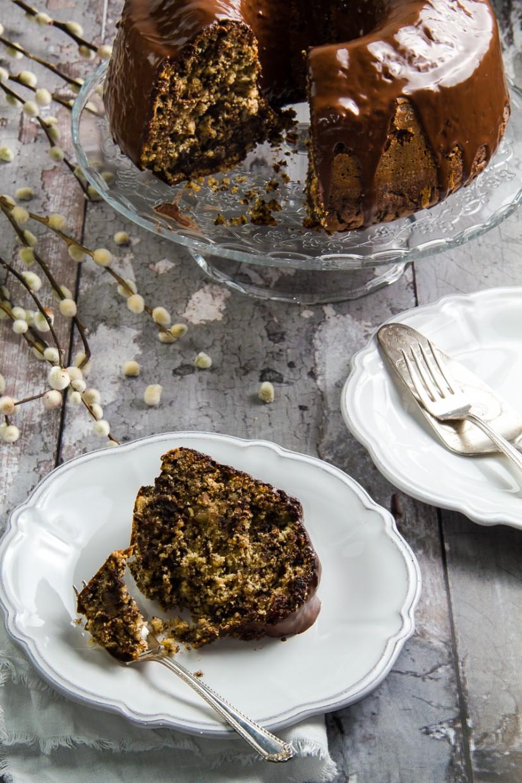 Νηστίσιμο κέικ με ταχίνι, καρύδια, σταφίδες & σοκολάτα, χωρίς λάδι. Ότι πρέπει για την μεγάλη Εβδομάδα - Vegan tahini cchocolate cake with walnuts, raisins